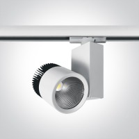 65614T/W/W WHITE COB LED 45W WW TRACK SPOT 230v