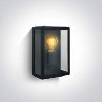 67406/B BLACK WALL LIGHT 40W E27 IP43