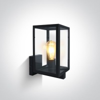 67406C/B BLACK WALL LIGHT 40W E27 IP43