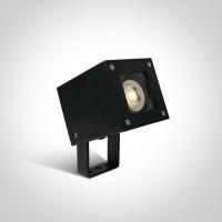 67432/B BLACK GARDEN SPOT GU10 10W IP65 WITH SPIKE