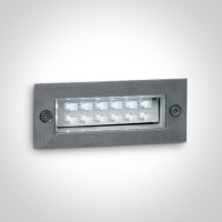 68002/W S/STEEL WALL RECESSED WW 1,2w IP54 230v
