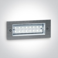 68003/D S/STEEL WALL RECESSED DL 1,6w IP54 230v