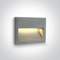 68016/G/W GREY WALL RECESSED LED 2W WW IP54