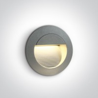 68022/G/W GREY WALL RECESSED LED WW IP54