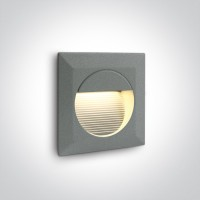 68024/G/W GREY WALL RECESSED LED WW IP54 230V