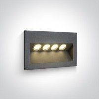 68048/AN/W ANTHRACITE IP65 LED 4x1w WW 100-240V