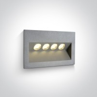 68048/G/W GREY IP65 LED 4x1w WW 100-240V