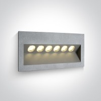 68050/G/W GREY IP65 LED 6x1w WW 100-240V