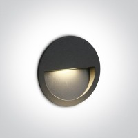 68068/AN/W ANTHRACITE WALL RECESSED LED 3W IP65 DARK LIGHT 100-240V