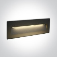 68068C/AN/W ANTHRACITE WALL RECESSED LED 6W IP65 DARK LIGHT 100-240V