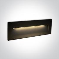 68068C/B/W BLACK WALL RECESSED LED 6W IP65 DARK LIGHT 100-240V