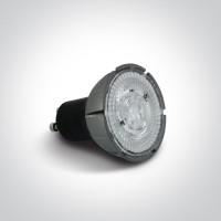 7306G/C LED 7w GU10 CW 36deg 230v