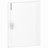 Непрозрачна врата за табла за вграден и открит монтаж, титаниево бяло 1 x 13