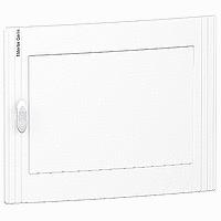 Непрозрачна врата за табла за вграден и открит монтаж, титаниево бяло 2 x 24