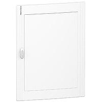 Непрозрачна врата за табла за вграден и открит монтаж, титаниево бяло 3 x 24