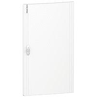 Непрозрачна врата за табла за вграден и открит монтаж, титаниево бяло 4 x 18