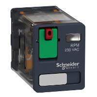 Силово реле RPM 2 З/О 230 V AC 15 A без светодиод
