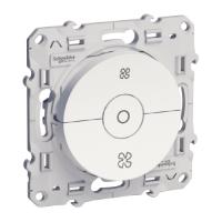 Механизъм за регулиране на скоростта на вентилатори 6 АХ, 3-степенен, с безвинтови клеми, Бял