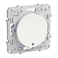 Девиаторен ключ 10 AX, с глим лампа или индикаторна лампа, Бял