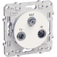 TV/SAT/R розетка, единична, Бял
