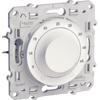 Електронен термостат с външен сензор за подово отопление, 10 А, Бял