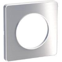Единична рамка Odace Touch, Драскан алуминий