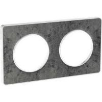 Двойна рамка, хоризонтален и вертикален монтаж, Odace Touch, Морски камък