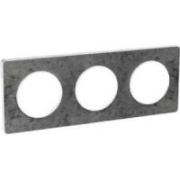 Тройна рамка, хоризонтален и вертикален монтаж, Odace Touch, Морски камък