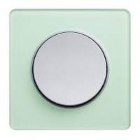 Единична рамка Odace Touch Aluminium, Полупрозрачно ледено зелено
