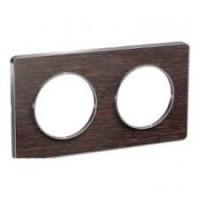 Двойна рамка, хоризонтален и вертикален монтаж, Odace Touch Aluminium, Венге