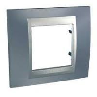 Единична рамка Unica Top, Сив металик/Алуминий