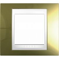 Единична рамка Unica Plus, Злато/Бял