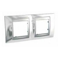 Двойна рамка Unica Top, Хром/Алуминий