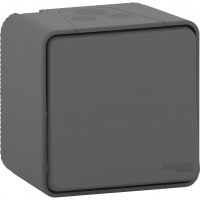 Mureva Styl - 2-pole switch - surface mounting - grey