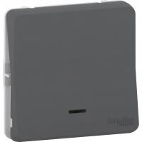 Mureva Styl - push-button locat with LED flush & surface mounting - grey