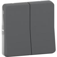 Mureva Styl - double push-button flush & surface mounting - grey