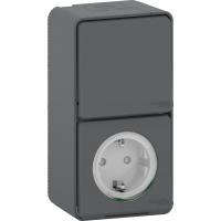 Mureva Styl - outlet sideE + 2-way switch - grey
