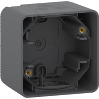 Mureva Styl - surface mounted box - 1 gang - grey
