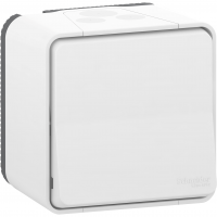 Mureva Styl - two-way switch - surface mounting - white