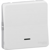 Mureva Styl - 2-way control switch with LED flush & surface mounting - white