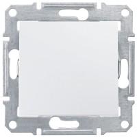Еднополюсен ключ 10 A - 250 V AC, Бял