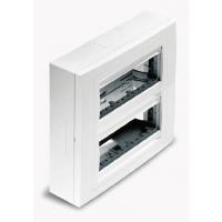 Вертикална кутия за открит монтаж, 2 колони, Бяла