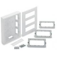 Вертикална кутия за открит монтаж, 3 колони, Бяла