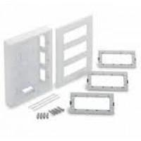 Вертикална кутия за открит монтаж, 3 колони, Слонова кост