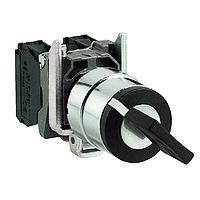 Превключвател с ключ (2 N/O) черен