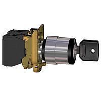 Превключвател с ключ (2 N/O) черен - ATEX