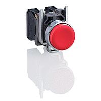 Изпъкнал бутон (1 N/C) без маркировка, червен