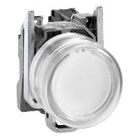 Изпъкнал бутон (1 N/O) бял - ATEX