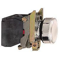 Пусков светещ бутон (1 N/O + 1 N/C) предпазен LED, без маркировка, бял