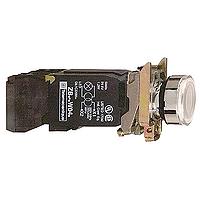 Пусков светещ бутон (1 N/O + 1 N/C) с нажежена жичка, без маркировка, зелен
